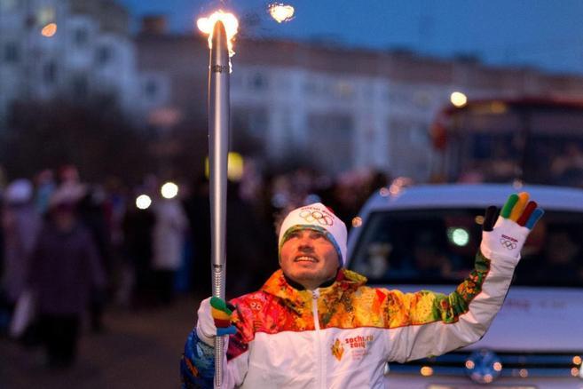 La antorcha de los Juegos Olímpicos de Invierno. |