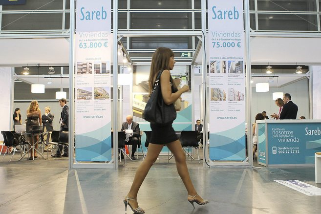 'Stand' de la Sareb en la feria inmobiliaria Urbe 2013 en...