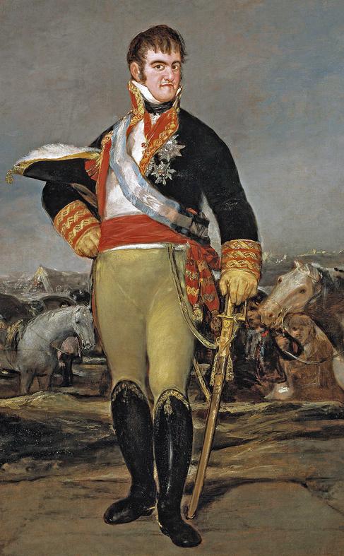 Retrato del rey Fernando VII realizado por Francisco de Goya y...