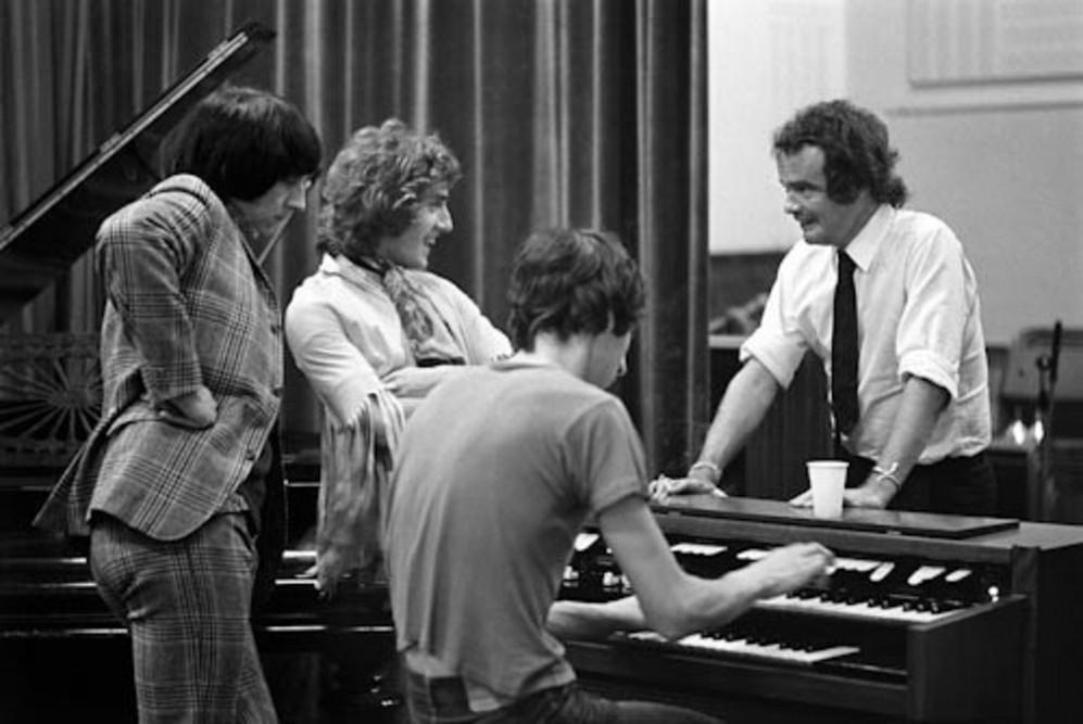 Los Who grabando 'Tommy', con Kit Lambert, el productor, en octubre de...