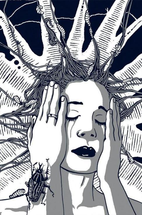 Una de las ilustraciones que acompañan al cuento de Murakami.
