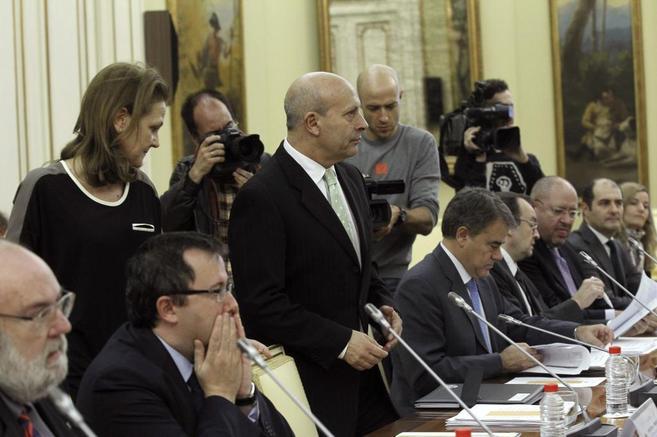 José Ignacio Wert, momentos antes de la reunión de la Conferencia...