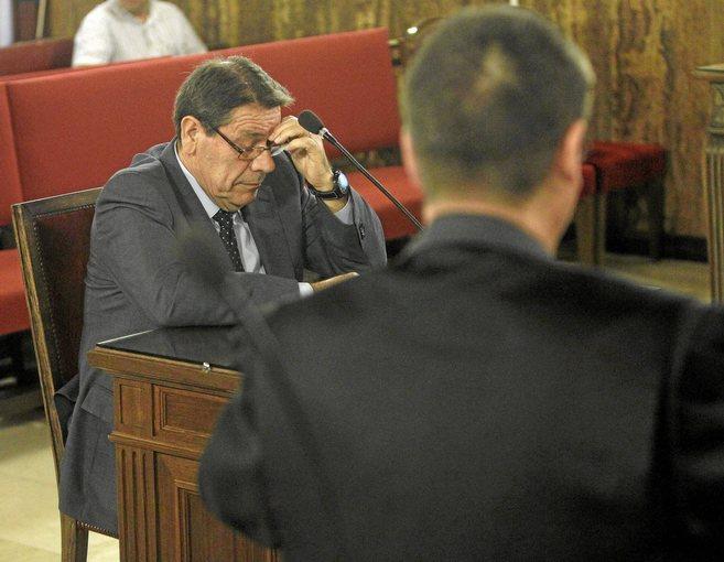 Pedro Ángel Hernández Mateo, durante el juicio por las...