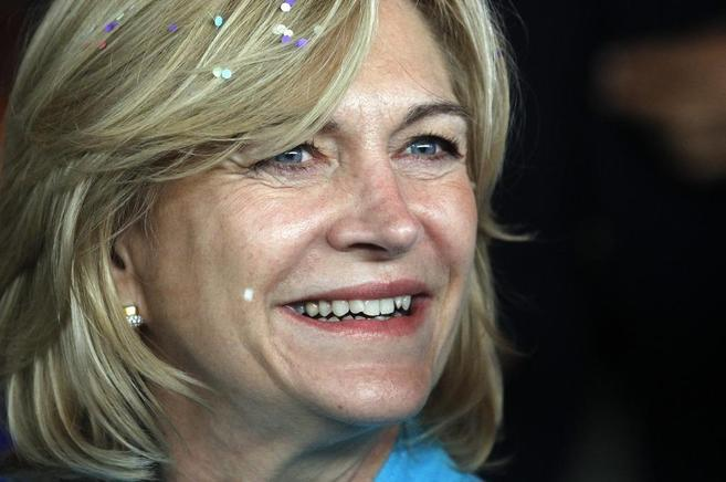 La candidata presidencial de la Alianza, Evelyn Matthei, el pasado...