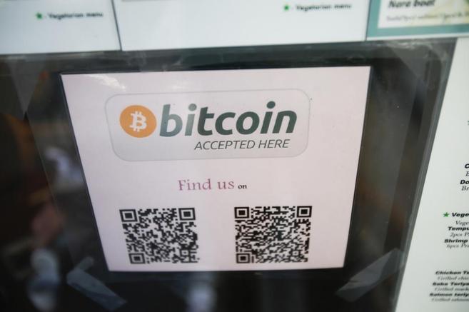 Imagen de una tienda en San FRancisco en donde se admiten bitcoins...