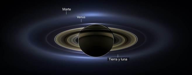 Imagen tomada desde Saturno el pasado 19 de julio.  