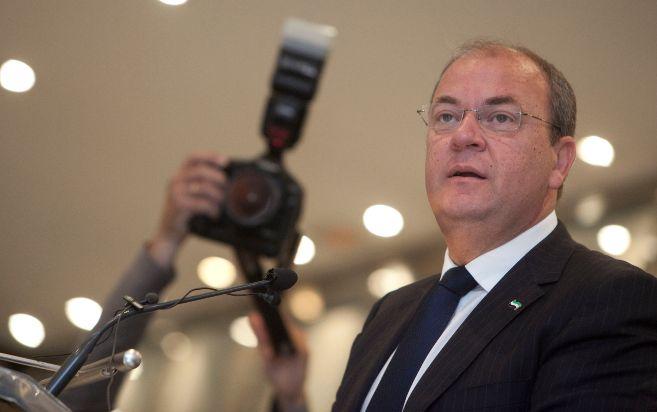 El presidente extemeño, José Antonio Monago, en Córdoba, durante la...
