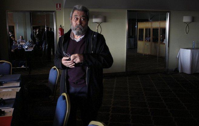 Cándido Méndez, secretario general de UGT, este miércoles en la...