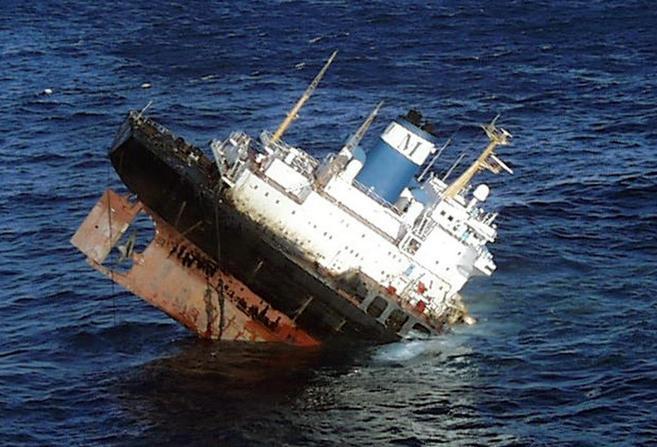 El petrolera 'Prestige' se hundió frente a las costas...