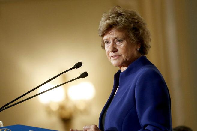 Soledad Becerril, durante su intervención en el Fórum Europa.