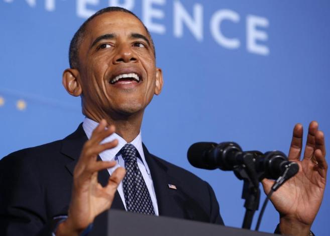 El presidente de EEUU, Barack Obama, en un acto público.