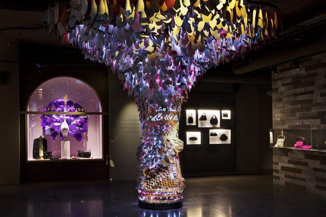 Imagen de la exposición de Loewe en Gran Vía