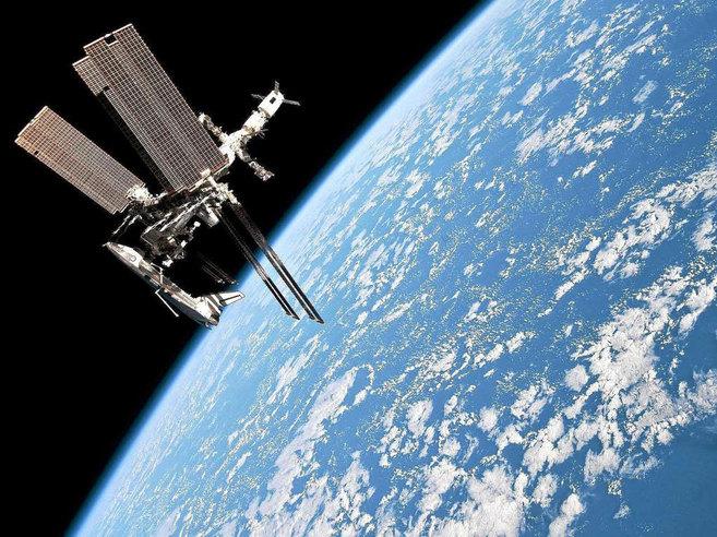 Vista de la Estación Espacial Internacional.