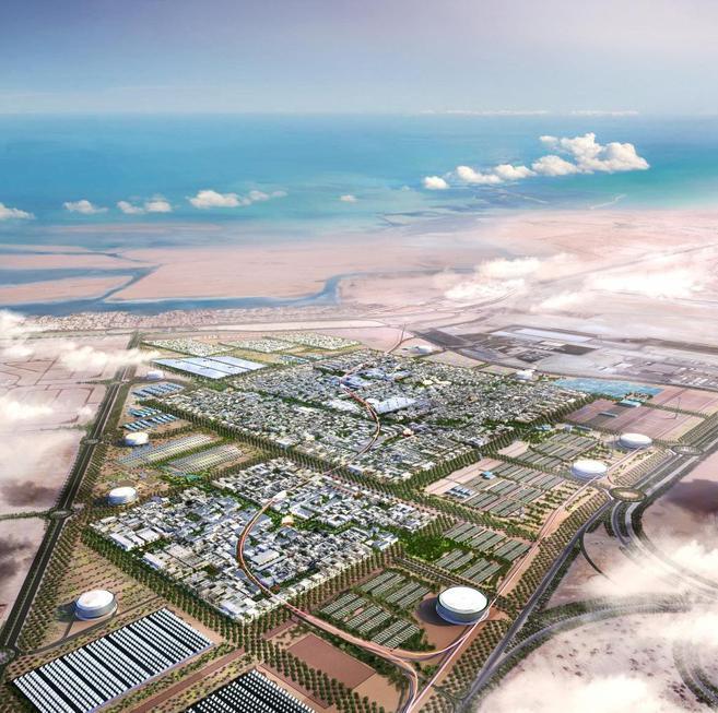 Vista aérea de la ciudad de Masdar, en Abu Dhabi.