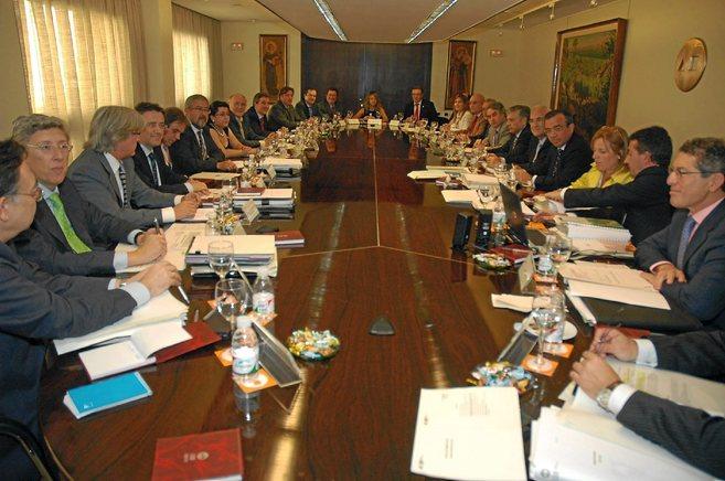Reunión del Consejo de Administración de la CAM, antes de ser...