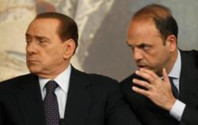 Berlusconi y Alfano, cuando eran íntimos aliados.