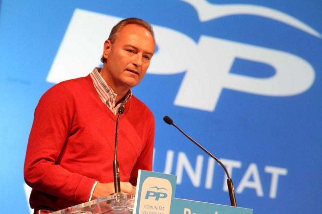 Alberto Fabra, durante el acto del PP valenciano.