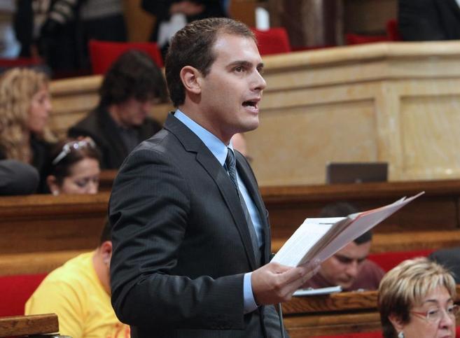 El presidente de Ciutadansl, Albert Rivera, en el Paralment.