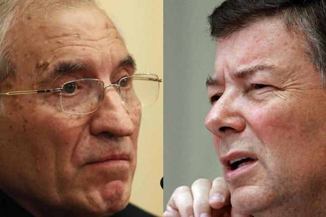 El presidente y el secretario general de la Conferencia Episcopal, que...