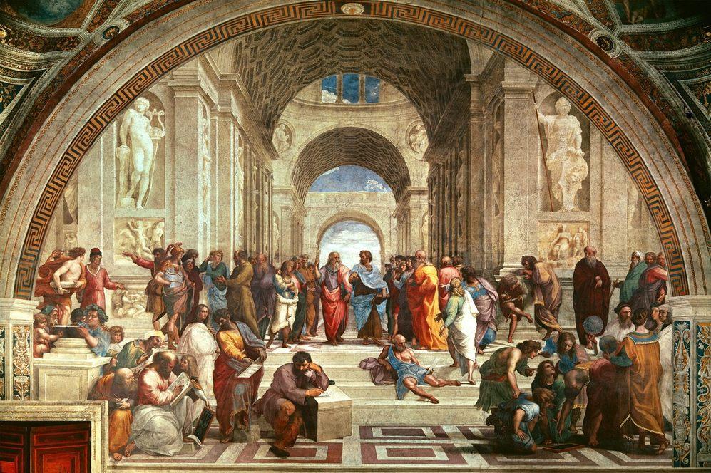 La 'Escuela de Atenas', de Rafael de Sanzio.