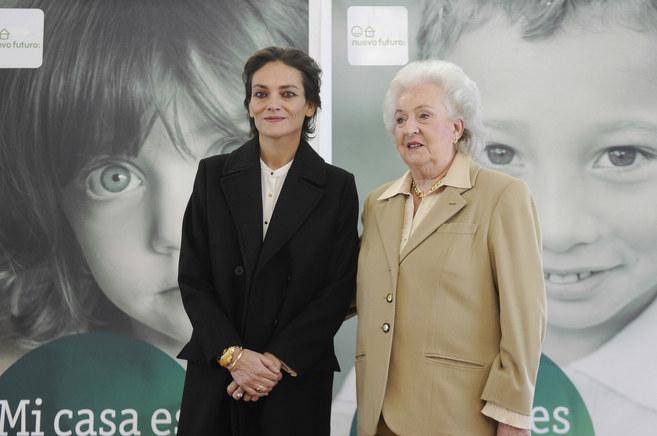 Laura Ponte y Doña Pilar, esta mañana.