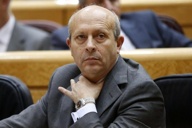 El ministro de Educación, José Ignacio Wert , durante la sesión de...