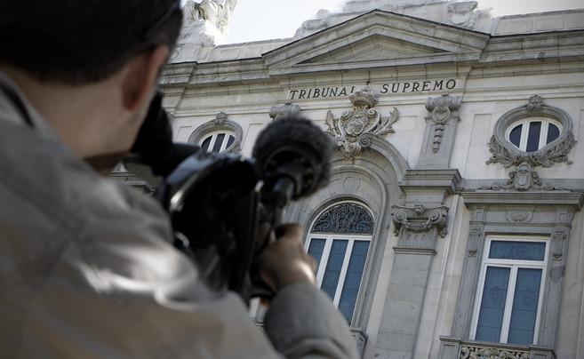 Fachada del edificio del Tribunal Supremo en Madrid.
