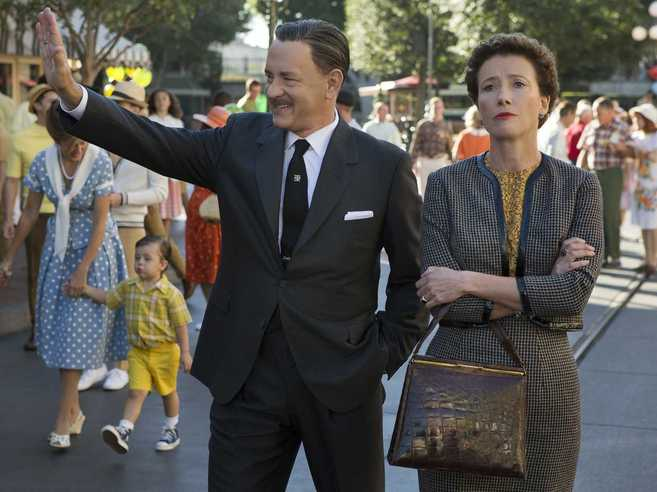 Tom Hanks y Emma Thompson en la nueva película de Walt Disney.