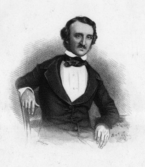 Ilustración del poeta americano y escritor Edgar Allan Poe.