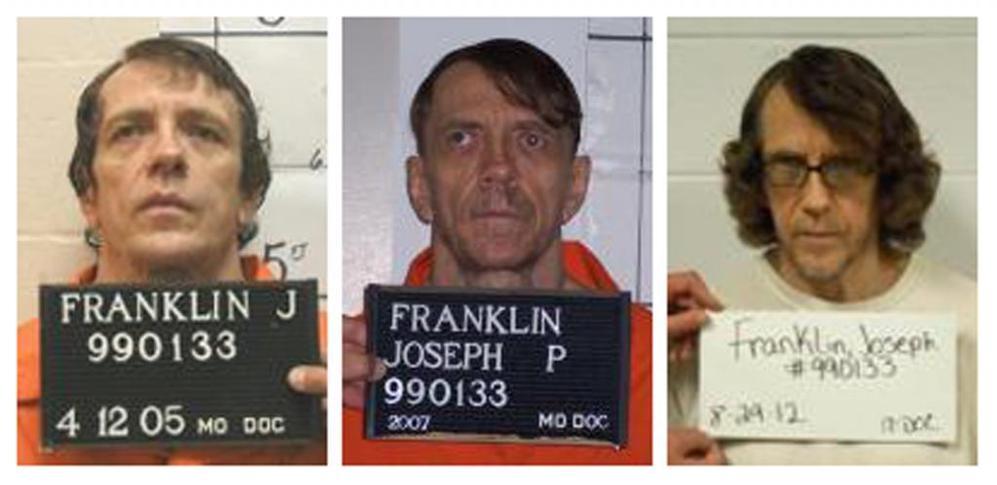 Joseph Paul Franklin, en fotos tomadas en 2005, 2007 y 2012,...