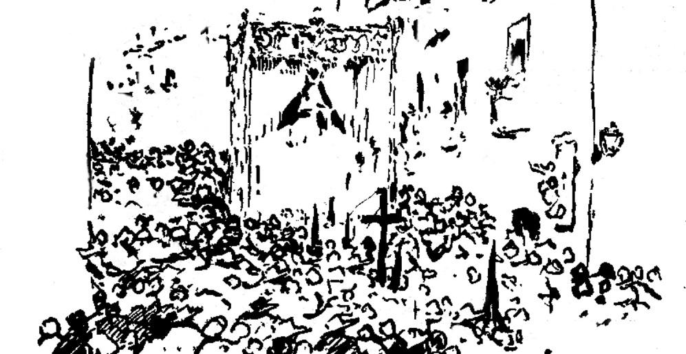 Uno de los dibujos de Martínez de León que ilustró los reportajes...