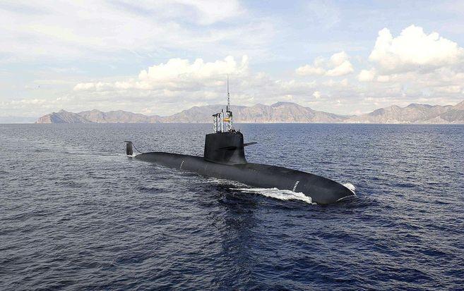 Recreación artística del futuro submarino S-80.