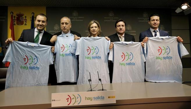 Ambos clubes participan en la campaña contra la violencia de género.