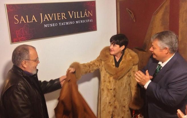 Javier Villán, durante la apertura de la sala con su nombre en el...