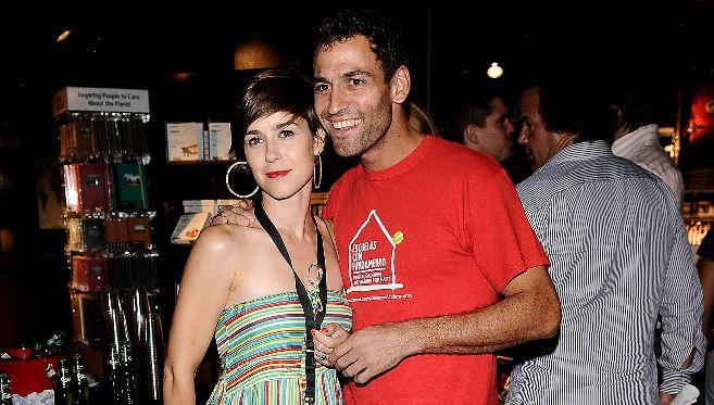 Darío Barrio y su mujer
