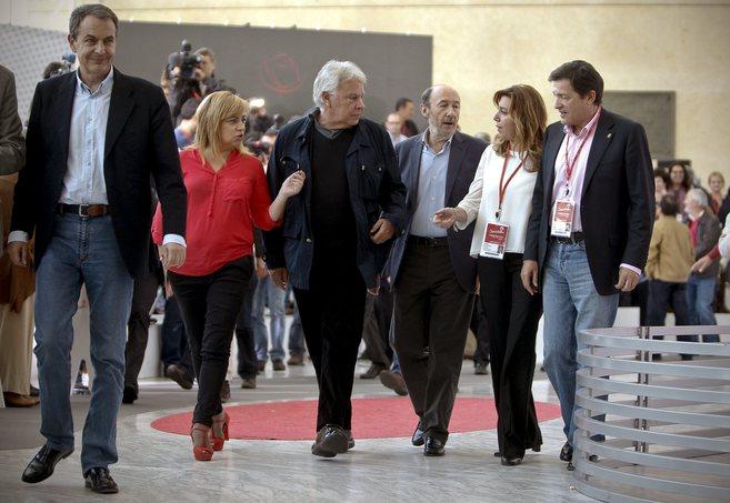 Susana Díaz concita la atención de Rubalcaba, González y Valenciano...