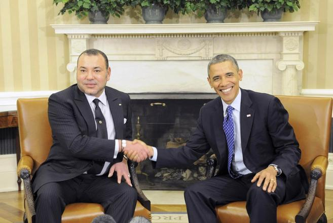 El rey Mohamed VI y el presidente Barak Omaba, en la Casa Blanca.