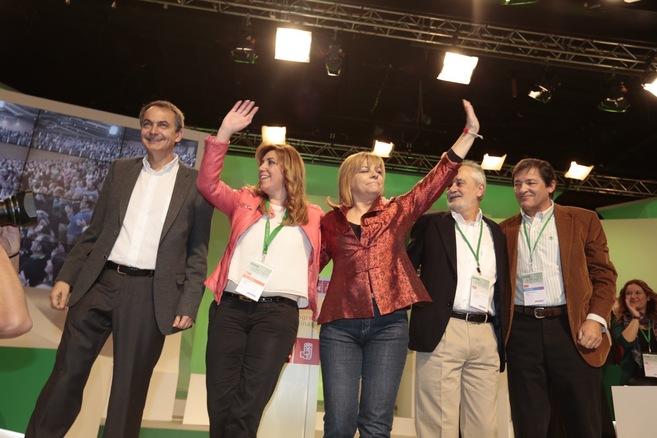 Zapatero, Díaz, Valenciano, Griñán y Fernández, en el Congreso del...