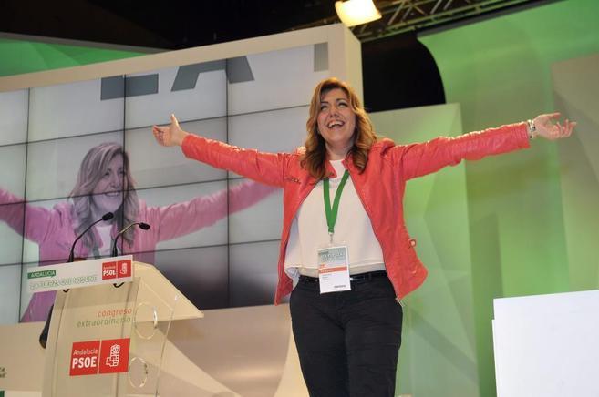 La presidenta de Andalucía y líder del PSOE-A, Susana Díaz
