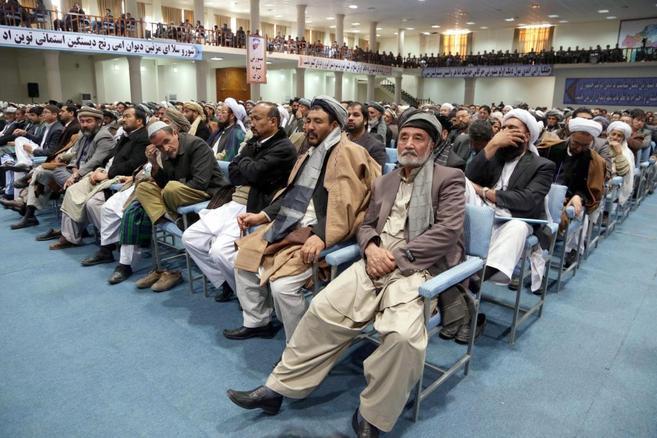 Miembros de la Loya Jirga afgana.