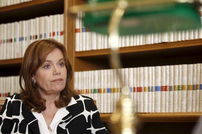 La presidenta del Observatorio de Violencia de Género del CGPJ,...