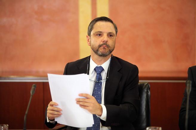 Fernando Mellet, durante su comparecencia en la comisión...