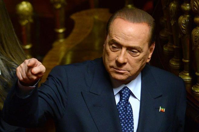 Silvio Berlusconi durante una intervención en el Senado italiano.