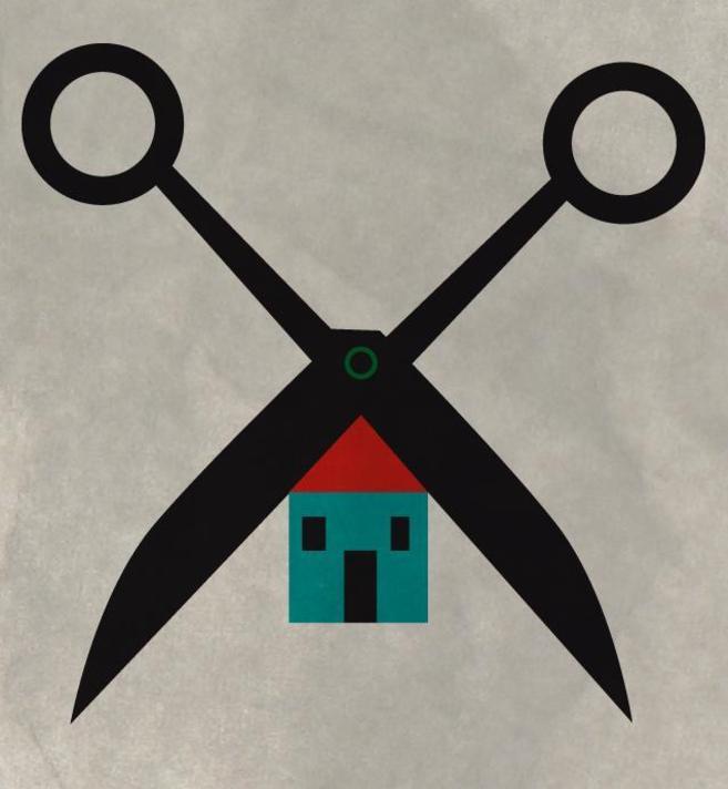 Ilustración que hace referencia a una casa embargada.
