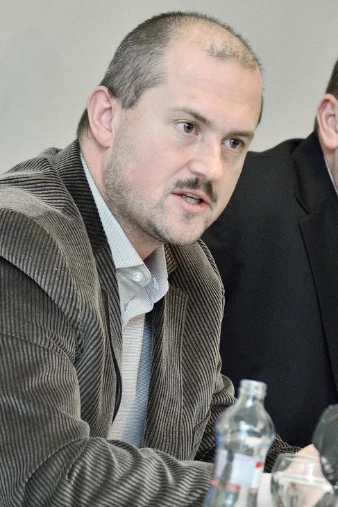El neonazi Marian Kotleba, líder del  Partido del Pueblo-Nuestra...