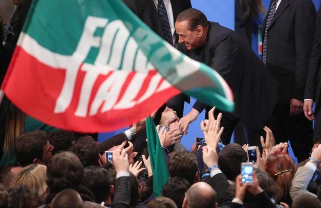 Berlusconi, en un acto de Forza Italia