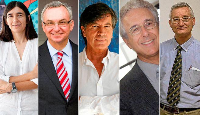 De izquierda a derecha, María Blasco, Josep Baselga, Carlos...