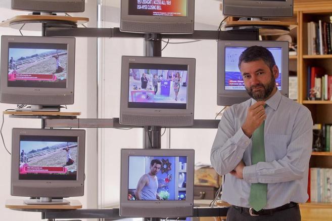 Julio Somoano, director de Informativos de TVE, en su despacho.
