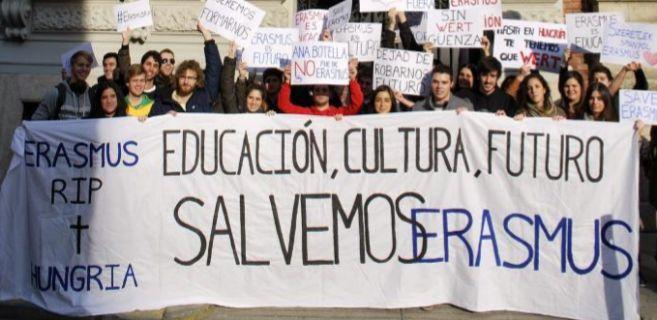 Protestas de estudiantes Erasmus en Budapest