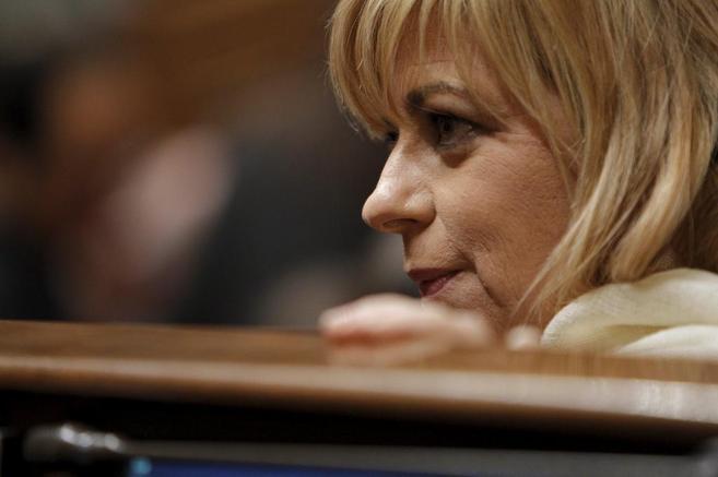 Elena Valenciano, en el Congreso.